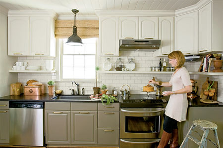 kitchen makeover raised cabinets white gray quot there