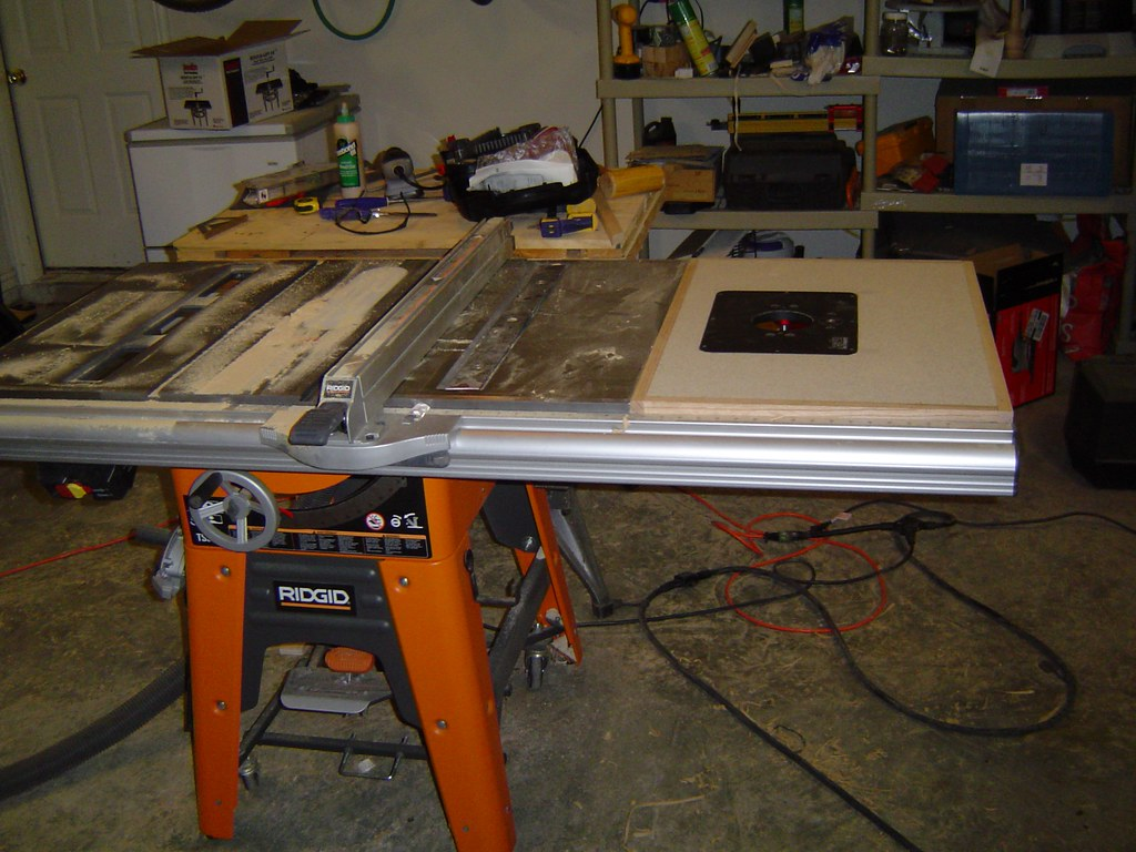 Ridgid Ts3650 Tablesaw This Is My Table Saw I Ve Added