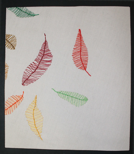 ... hand embroidered leaves | by Sarah Bell Smith