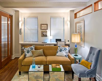 Small spaces elegant compact living room from elle deco flickr - Small living room space image ...