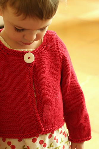 Just One Button Cardigan, front view | by ElinorB