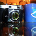 Kodak Retina IIc and Columbia U coffee mug