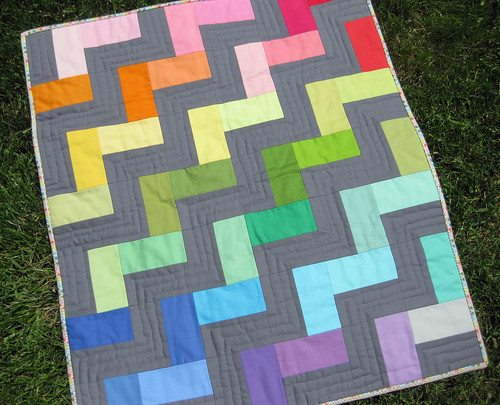 simplified rainbow quilt | by Pear Tree Stitching