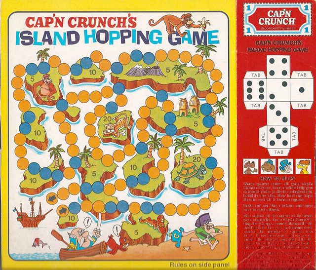 Cap'n Crunch's Island Hopping Game Cereal Box Back | Flickr ...