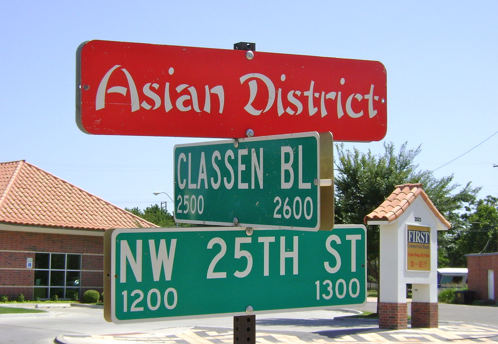 Asian District Street Sign Oklahoma City Regina Hartley