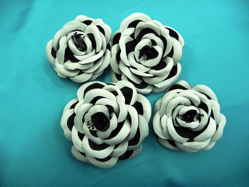 Mparr000217 flores lazos y tocados de tela hechos a mano flickr - Flores de telas hechas a mano ...