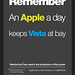 Remember. An Apple a day...