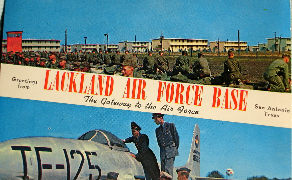 Greetings From Lackland Air Force Base Postcard Smaddy