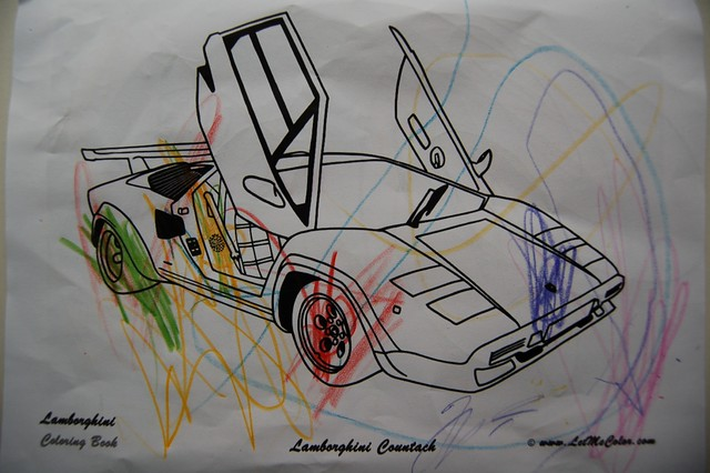 Lamborghini Coloring Pages For Adults To Color