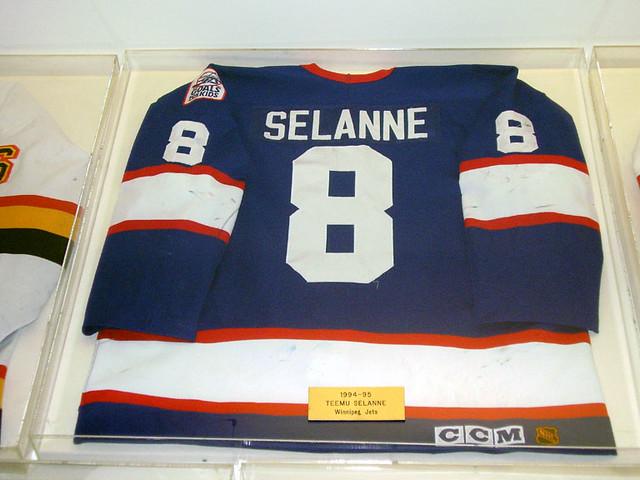 the best attitude 73635 a3fad Newport Sports Museum: Selanne jersey, Winnipeg Jets (1994 ...