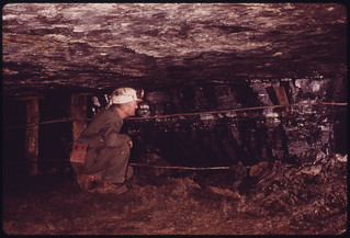 George Wilson in His Drift Mine (One That Is Cut Straight Into a Hill) near Wilder and Cookeville, Tennessee 04/1974 | by The U.S. National Archives