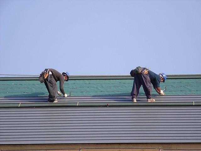 dak vervangen werklui
