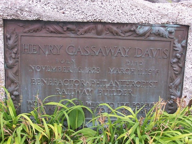 Inscription On Henry Gassaway Davis Statue Elkins West