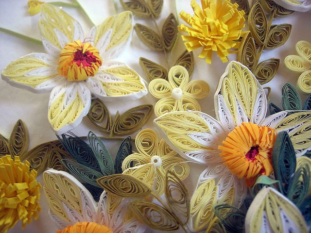 Quilling Paper Picture Flowers 3d Effect A Picture Is