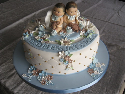 Christening Cake Designs For Twins : Twin Baptism My first attempt at making babies!! ;) This ...