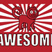"""""""Awesome"""" Shirt Red (Detail)"""