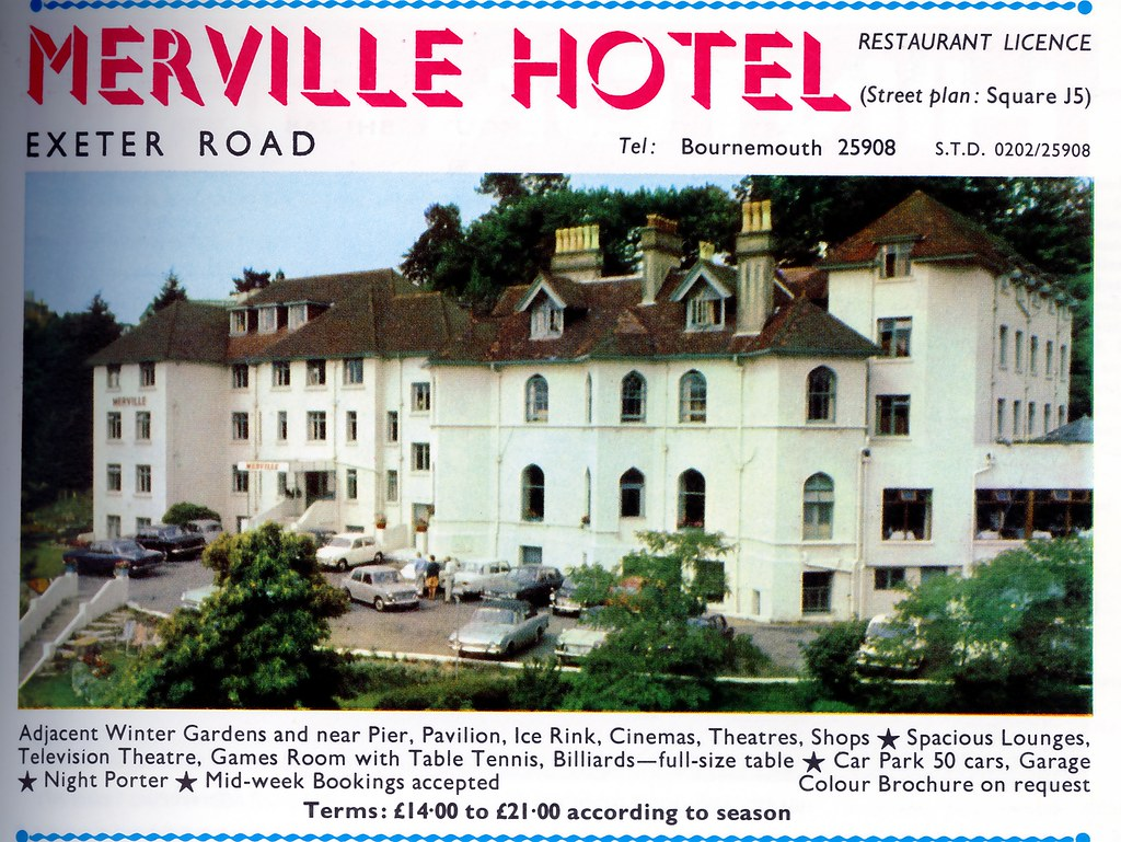 the merville hotel exeter rd bournemouth dorset 1971 flickr