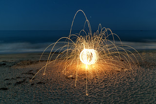 Steel Wool Sparks on the Beach | by Photo Extremist