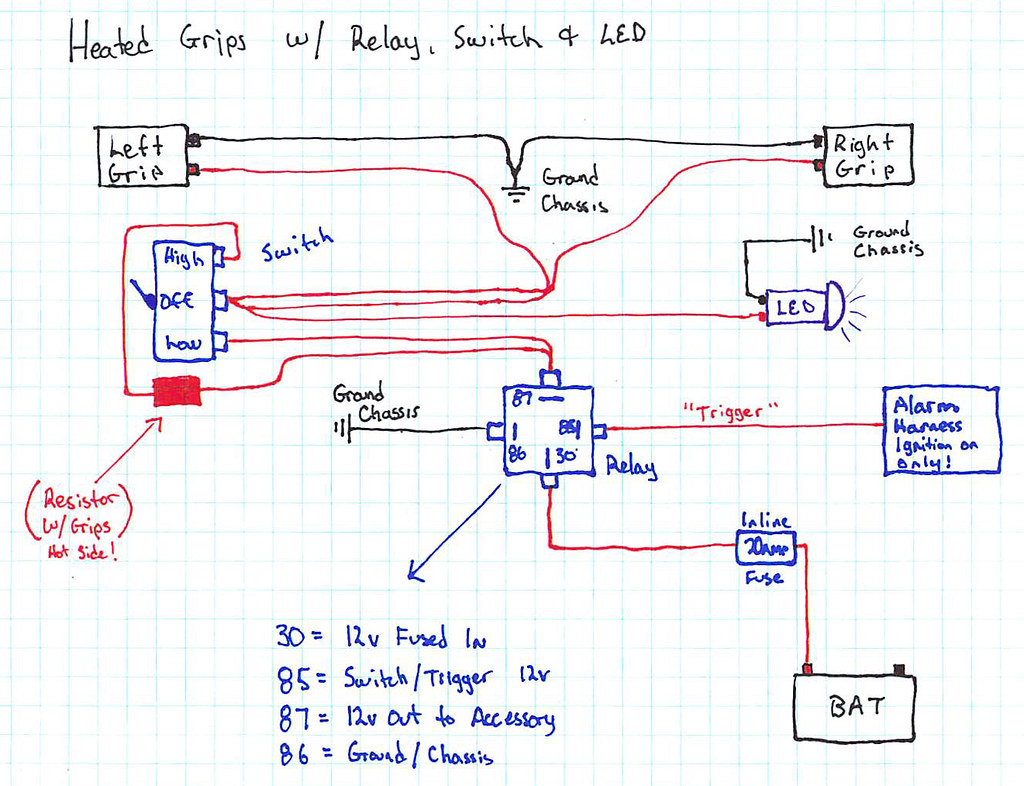 Heated Grips Wiring Diagram