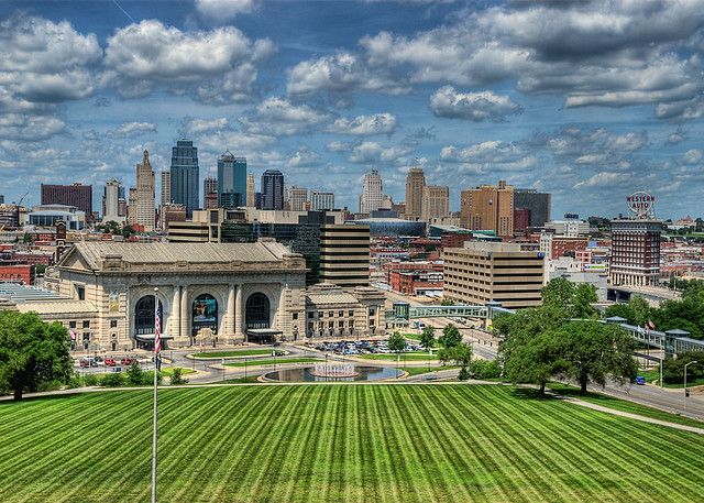 Kansas City Skyline Shot From The Observation Level Of
