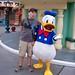 Dan and Donald Duck in Toontown