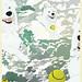 Vector: American Eskimo Dogs in Heaven