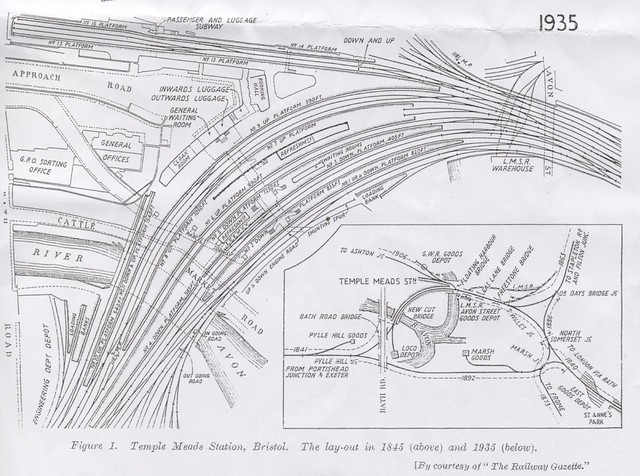 Bristol Temple Meads 1935 map From open doors day dan pope Flickr