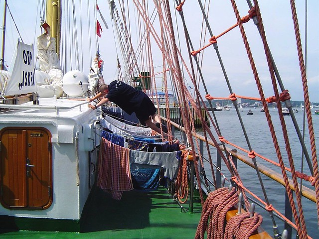 Laundry day on a tall ship