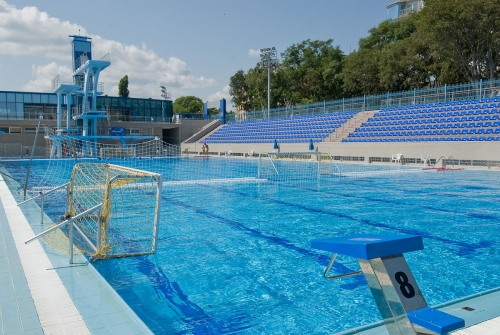 Olympic size swimming pool and spa swimming complex varn - Swimming pool size ...