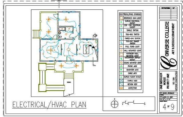 One level home electrical hvac plan rachel rubenstein for Hvac plan