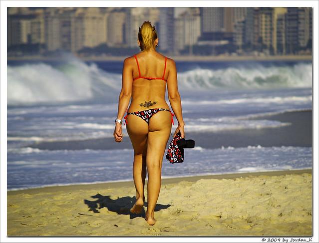 sexy woman fucking on the beach