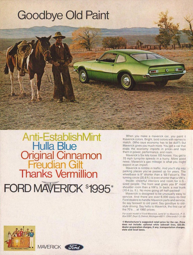1970 Ford Maverick Ad Better Homes And Gardens June
