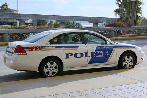 Orlando Police Car Crash