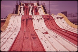 "Abandoned ""Giant Slide"" at Coney Island Marks Decline of Area's Recreational Use 05/1973 