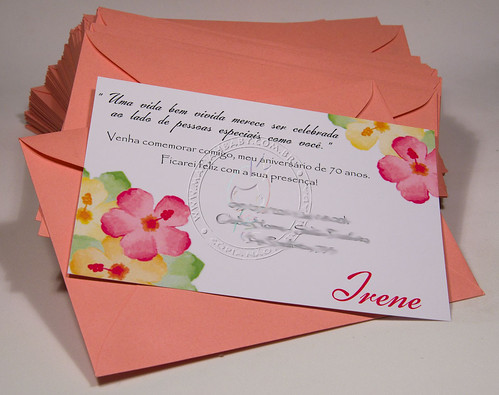 Convite Aniversario 70 Anos Feminino Lindos Convites 70 Anos