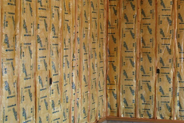 Fiberglass batt insulation flickr photo sharing for Insulation batt sizes