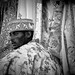 priest celebrates the festival Hosanna (Palm Sunday) in Axum, tigray