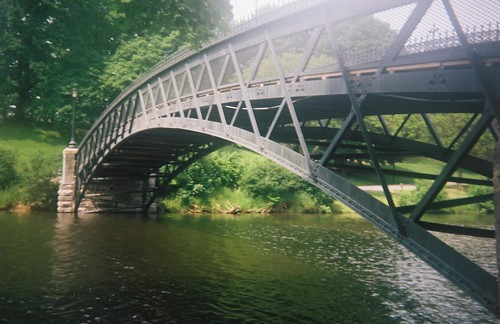 Bridge over Washington Park Lake, Albany NY with Kodak Brownie Bull's-Eye Camera | by chuckthewriter