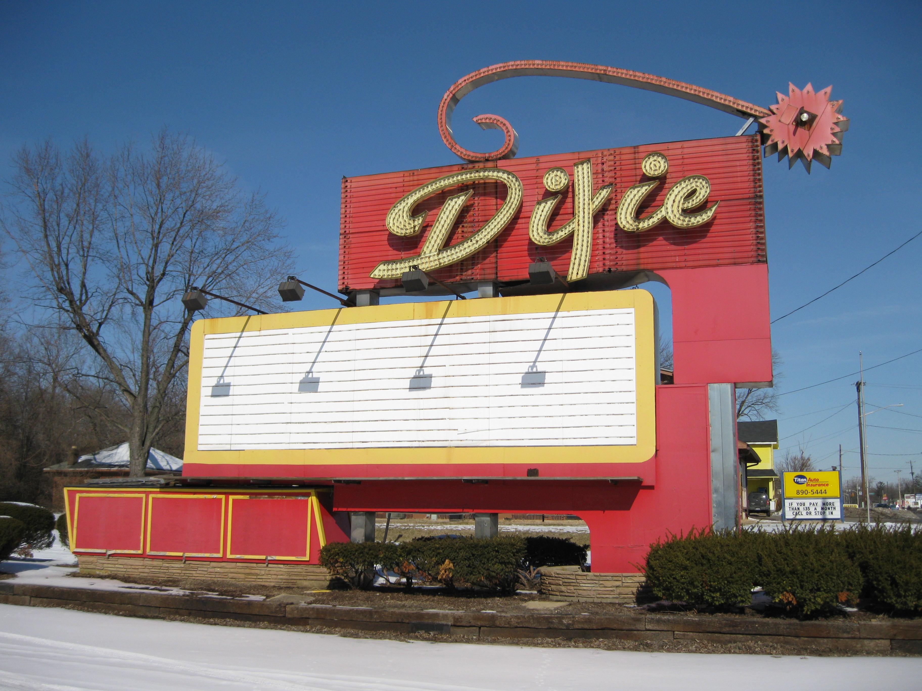 Dixie Twin Drive-In - 6201 North Dixie Drive, Dayton, Ohio U.S.A. - February 6, 2009