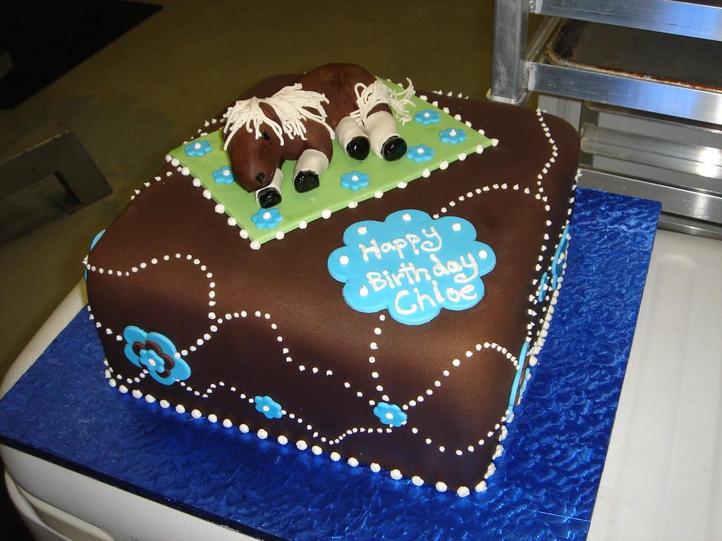 Horse On Blanket Birthday Cake Chocolate Fondant