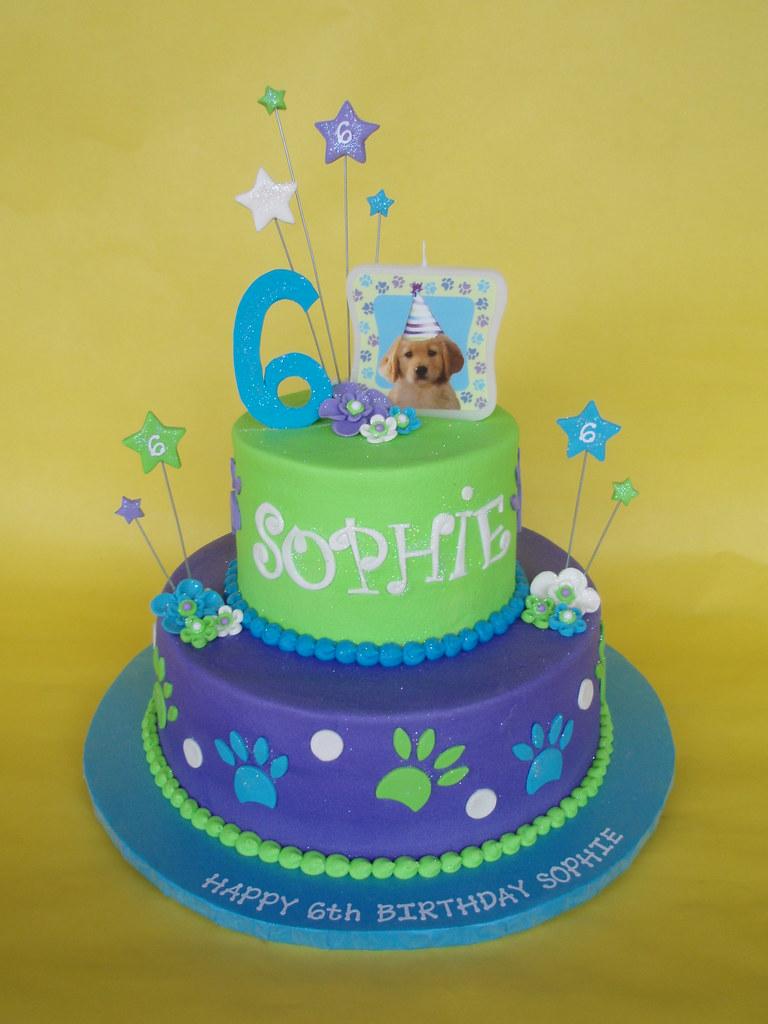 Puppy Dog Themed Birthday Cakes