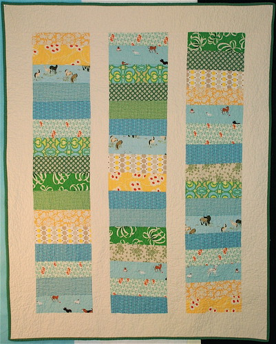 Blue&Green+Yellow Baby Quilt | by alissahcarlton