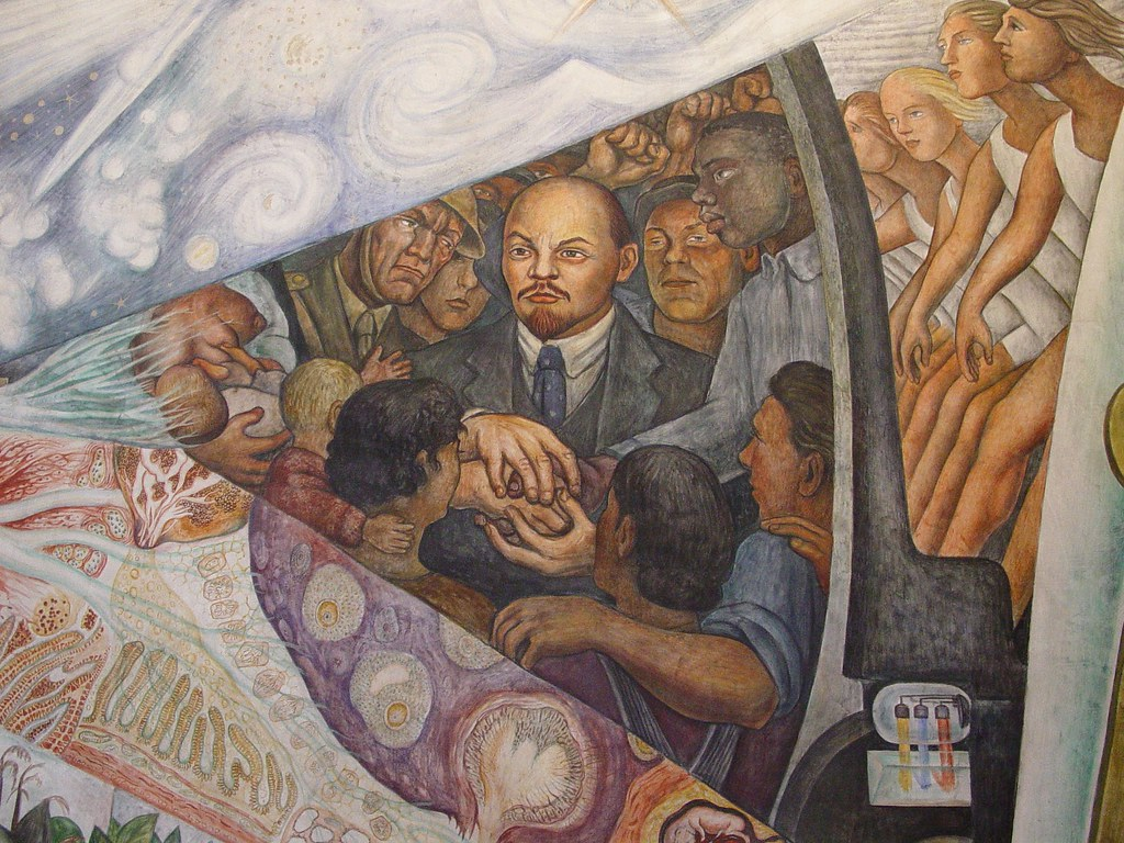 Mexico city bellas artes detail of diego rivera mural for Diego rivera rockefeller mural