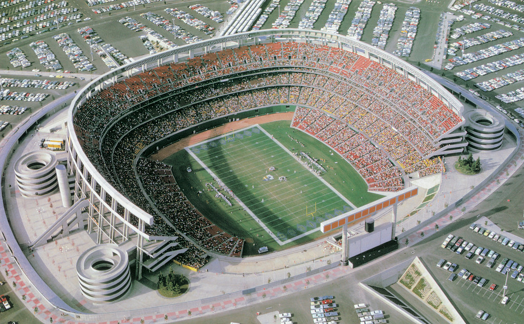 Aerial View Of San Diego Stadium This Is A View Of San