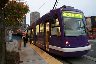 Pretty purple streetcar | by Seattle Department of Transportation