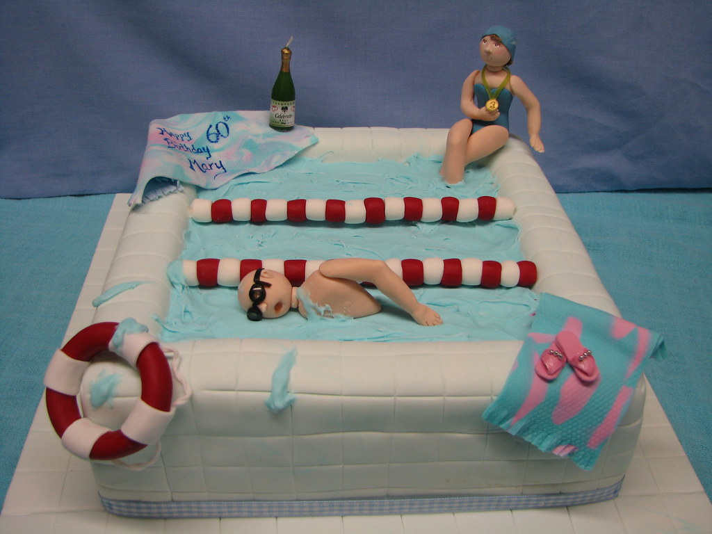 Swimming Pool Birthday Cake Ideas
