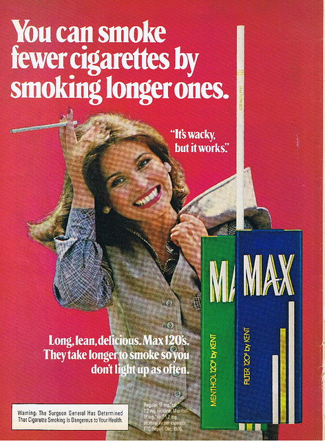 Max Cigarettes Ad From The Early 80s
