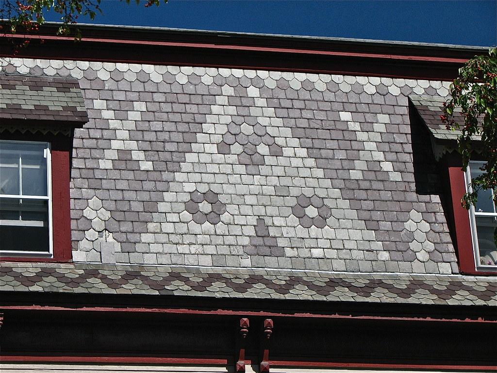 94 106 maple st 1885 mansard slate roof detail flickr for Mansard roof section