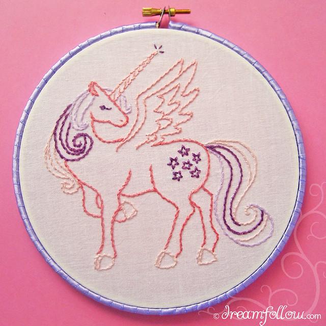 Winged unicorn free embroidery pattern ged