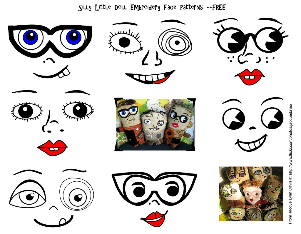 Geeky image pertaining to free printable doll faces